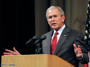 Former President Bush said Thursday that it is 'much harder to be the son of the president than to be the president.'