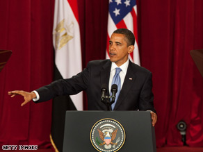 The president spoke in Cairo in June.