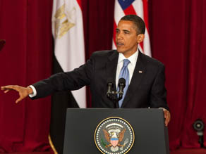 U.S. President Barack Obama makes his key Middle East speech at Cairo University
