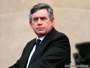 British Prime Minister Gordon Brown misspoke during ceremonies for the 65th anniversary of D-Day at Omaha Beach, France,Saturday.