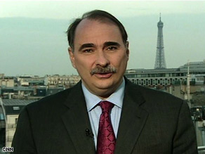 Obama senior adviser David Axelrod discussed the economy and health care reform in an interview that aired Sunday on CNN's State of the Union.