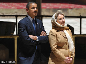 Secretary of State Clinton accompanied the president on his recent trip to the Middle East.