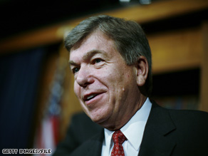 Missouri Republican Rep. Roy Blunt spoke out Monday against the public health insurance option that Democrats are advocating for as part of their health care reform proposal.
