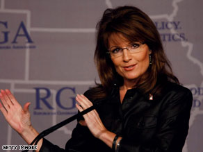 Palin was in Washington on Monday attending to state business.