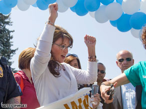 Palin says she has the endurance to beat President Obama in a road race.