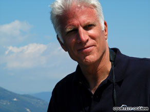 Ted Danson says a 'closed' sign on a beach led him on a 20-year quest to save the world's oceans.