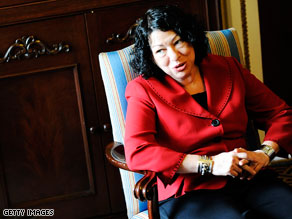 Sonia Sotomayor spends her days in a small office next to the West Wing of the White House.