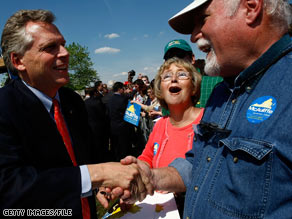 Terry McAuliffe ran for governor of Virginia in 2009 and could do so again in 2013.