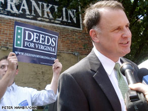 Deeds is expected to get plenty of national help for his gubernatorial bid in Virginia.