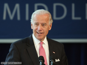 Joe Biden is lending a hand to Creigh Deeds Thursday.
