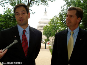 Sen. DeMint, on the right, is backing Marco Rubio, on the left, in the upcoming Republican primary for Florida&#039;s open Senate seat in 2010.
