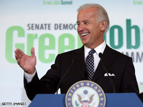 Vice President Biden addressed his former Senate colleagues at an event Wednesday.