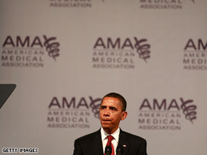President Obama pitched his health care plan to the American Medical Association on Monday and today, a Senate committee is working on a massive health care bill.