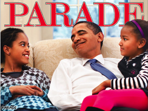 "'If I could be anything, I'd be a good father,"" says Obama in this week's Parade."