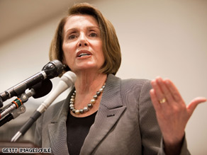 House Speaker Nancy Pelosi called the insurance industry 'the villians' in the Democrat's push to reform health care.