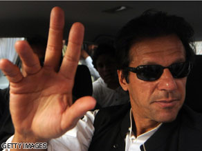 Celebrity Pakistani Imran Khan visited Washington this week to urge the U.S. to pull out of Afghanistan.
