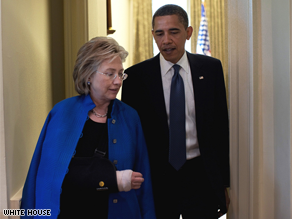 Secretary of State Hillary Clinton canceled a planned trip to Greece and Italy this week because she is still recovering from surgery to repair her fractured elbow.