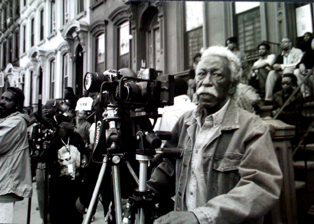 My friend and mentor Gordon Parks in a photo I call 'A Great Day in Harlem' Photo: Johanna Fiore.