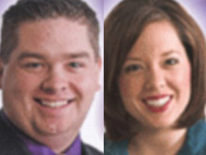 Amy DuPont and Zach Brown were once on-air colleagues at WXOW in La Crosse, Wisconsin.