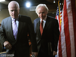  John McCain and Joe Lieberman are among the senators introducing legislation on Iran.