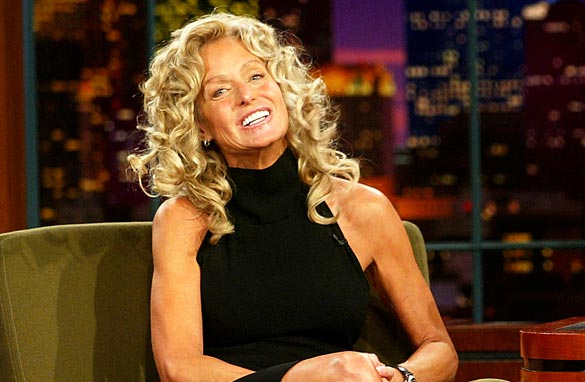 Actress Farrah Fawcett appears on 'The Tonight Show with Jay Leno' at  the NBC Studios on September 10, 2003. Getty Images
