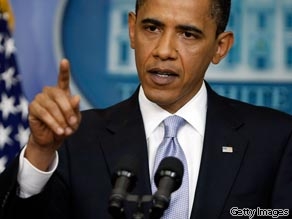 President Barack Obama speaks during a news conference in the James S. Brady Briefing Room at the White House June 23, 2009 in Washington, DC.