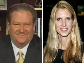 Ed Schultz (L) and Ann Coulter (R). CNN and Getty Images