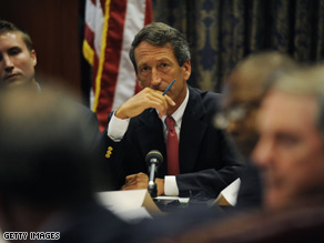 Sen. Lindsey Graham said Sunday that South Carolina Gov. Mark Sanford, pictured, was lucky to have his wife, Jenny Sanford.