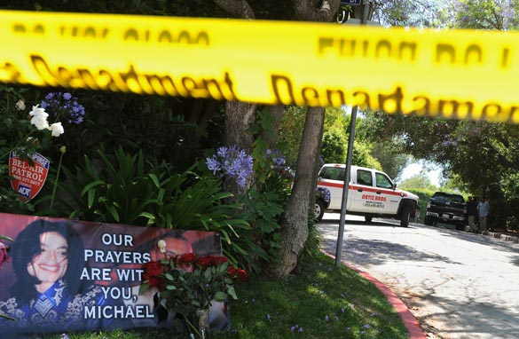 A removal vehicle leaves the rented Holmby Hills home of music legend Michael Jackson after his recent death, in Los Angeles on June 27, 2009. Getty Images