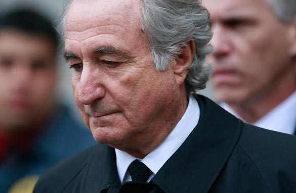 Financier Bernard Madoff leaves Manhattan Federal court March 10, 2009 in New York City. Getty Images/FILE
