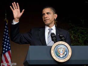 President Obama spoke to some of his top fundraisers Monday night.