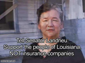 A new TV ad continues MoveOns campaign to pressure Landrieu over a public option.