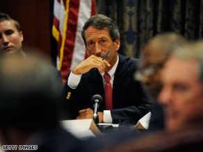 Gov. Mark Sanford's security clearance was erroneously suspended by a DHS employee.