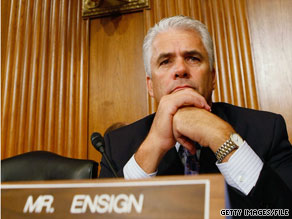 The husband of Sen. John Ensign's former mistress says another senator tried to intervene to stop Ensign's extra-marital affair, the Las Vegas Sun reported.