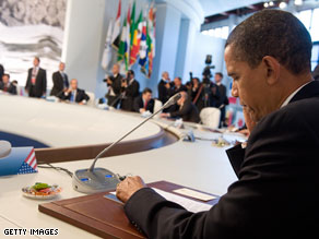 President Obama will depart the G8 summit Friday for Ghana.