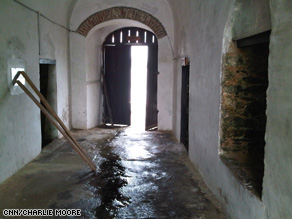 The 'door of no return' at the Cape Coast Castle. Slaves would exit this door and board ships bound for the western hemisphere.