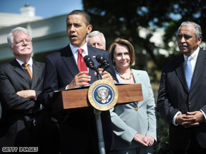 President Obama speaks about health care reform in May.