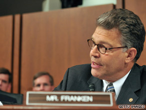 Sen. Al Franken unveiled his first legislative goal Monday.