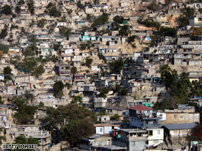A 2006 picture of poor housing conditions in Port-Au-Prince, Haiti, the poorest country in the western hemisphere.