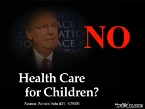 This TV ad by the Democratic National Committee distorts Senator McConnell's record, according to PolitiFact's Truth-O-Meter.