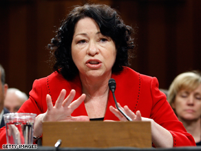 Judge Sonia Sotomayor kicked off the second day of her Supreme Court confirmation hearings Tuesday.
