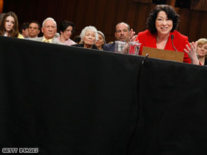 Sonia Sotomayor said Tuesday that she 'understand(s) fully' the second amendment.