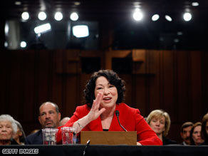 Sonia Sotomayor said Tuesday that the legality of presidential 'signing statements' must be decided on a case-by-case basis.