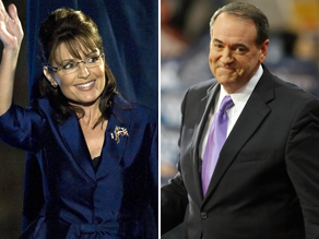 Huckabee wants Palin to stay in the GOP.