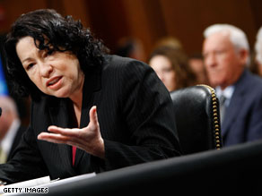 Supreme Court nominee Sonia Sotomayor said Wednesday that she could not respond to questions with specific circumstances of a case.