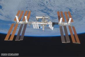 Фото МКС на орбите Земли.  Когда видео-картинка Земли с веб-камеры не доступна, на ее месте вы увидите фотографию...