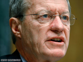 Sen. Max Baucus said Thursday 'the president is not helping us.'