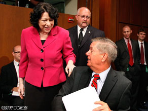 Sen. Lindsey Graham told Supreme Court nominee Sonia Sotomayor that some of the things she has said 'have bugged the hell out of me.'