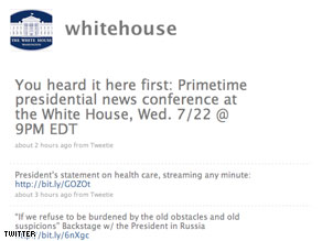 The official White House Twitter feed.