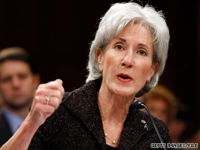 HHS Secretary Kathleen Sebelius said Sunday that the Obama administration wants a deficit-neutral health care reform bill.